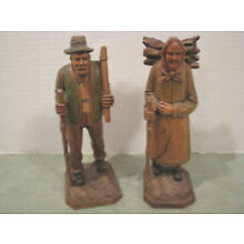MADE IN GERMANY WOOD HAND CARVED  signed RHON SEPP MADE IN GERMANY WOOD