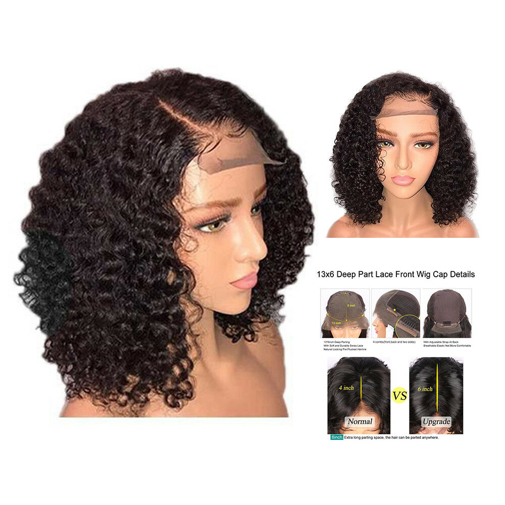 Details about 14   Womens Lace Front Wig Afro Deep Kinky Short Curly  Synthetic Hair Wigs UK 33fd747cad