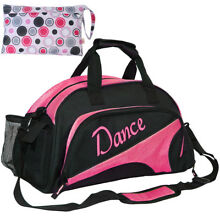 kilofly Girl Ballet Dance Sports Gym Duffel Bag Travel Carry On Handy Pouch