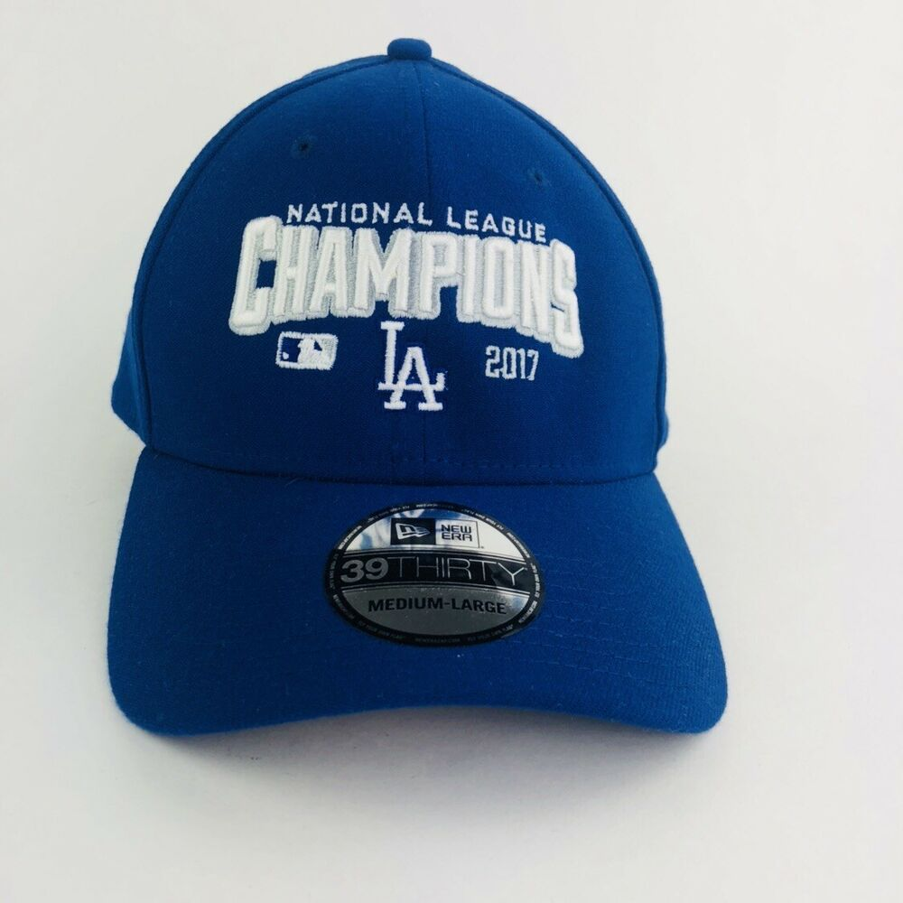 Details about Los Angeles Dodgers New Era 2017 National League Champions  39Thirty Fit Hat 9a41403f19f
