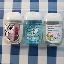 NEW■ UNICORNS  mixed LOT OF 3 bath and body works  sanitizers! NEW SCENTS!!