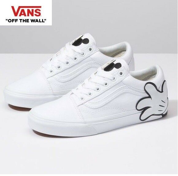 760e2d9bbc190c Details about Vans Disney 90th Anniversary Old Skool Mickey White Fashion  Sneakers