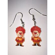 Heat Miser Earrings Christmas Year Without Santa Clause Charms
