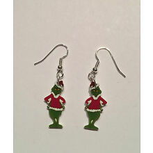 The Grinch Earrings Grinch in Santa Suit Charms