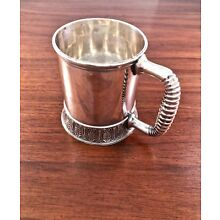 OLD GORHAM LARGE STERLING SILVER BABY CUP: NO MONOGRAM 1883