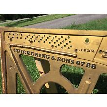 Antique Chickering & Sons 67BB Art Piano Plate