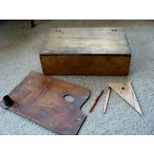 Mortician 's Make-Up Case Mortuary Funeral Death Embalming Paint Box Antique/vtg