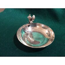 Cat silver Plate  nut dish By Reed & Barton 593