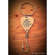 My Best Catch Fishing Hook Keychain Couples Anniversary Gift Present