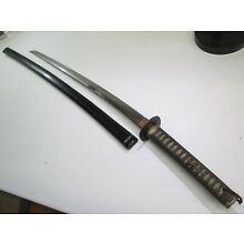 OLD KATANA JAPANESE SAMURAI SWORD UNSIGNED WITH SCABBARD OLD WIDE BLADE