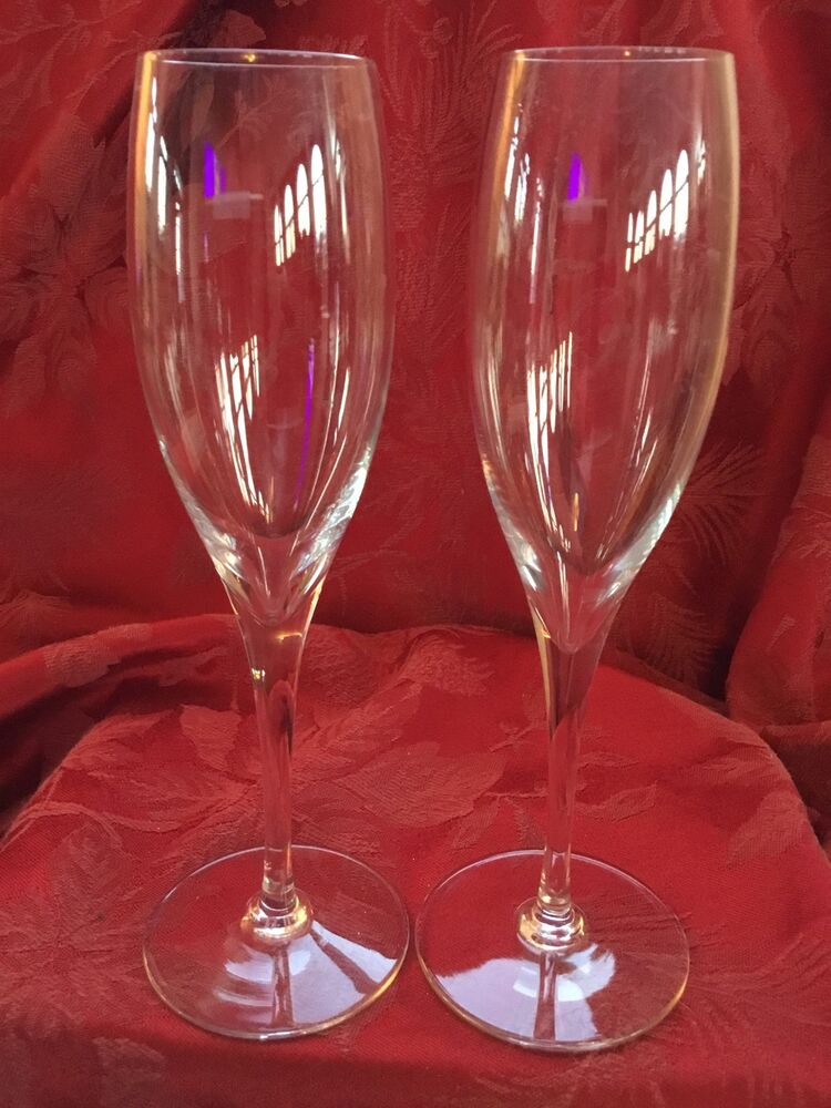 a1fa3affbd39 FLAWLESS Exquisite BACCARAT France Pair ST REMY Crystal CHAMPAGNE FLUTES  WINE