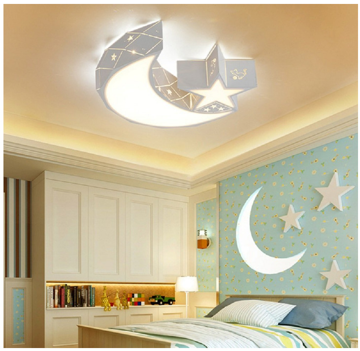 Exceptional Details About Star Moon Acrylic Ceiling Light Fixture Baby Kids Room Lamp  LED Bedroom Light