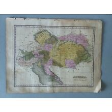 1824 MAP AUSTRIA ANTHONY FINLEY