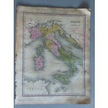 1824 MAP FRANCE ANTHONY FINLEY