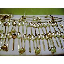 Lot of 100 Silverplate Spoons- Serving & Soup