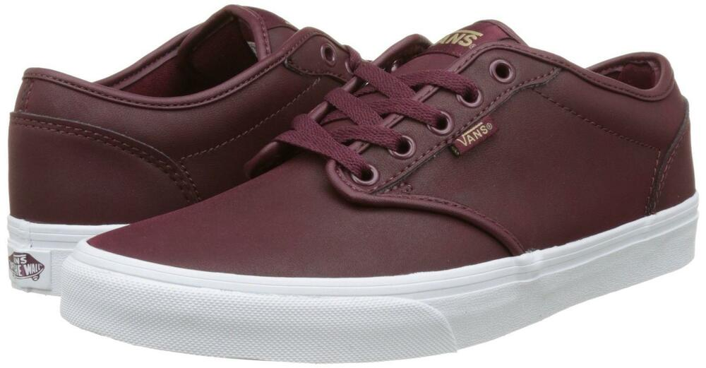 aa5485c03e69d4 Details about Vans Men s Atwood Leather Low-Top Skate Shoes Sneakers