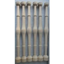 6 NEW UNFINISHED MAPLE BULBOUS TURNED SPINDLES 18