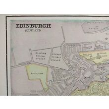 Vintage 1900 EDINBURGH SCOTLAND Map 14