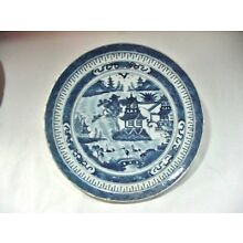 LOT #1:  ANTIQUE CHINESE EXPORT CANTON / NANKING DINNER PLATE:  9-1/2