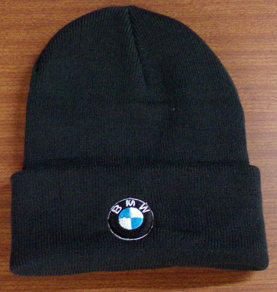248b0d425c43a BMW Embroidered Knit Beanie Hat Cap OSFA New