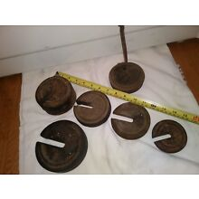 Set of PLATFORM SCALE WEIGHTS WITH HANGER