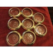 Set Of 8 Vintage Frank Whiting Beaded Sterling Silver Coasters Near Mint