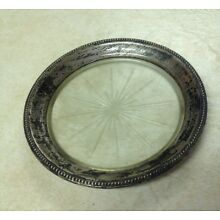 Vintage Frank M Whiting Sterling Silver Wine Bottle Coaster Collectible