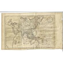 1782 A NEW MAP OF ASIA BAYLY