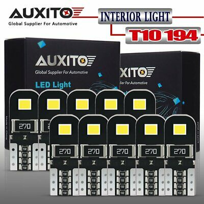 AUXITO Canbus 6000K 2825 T10 168 194 W5W License Plate Light LED Bulb