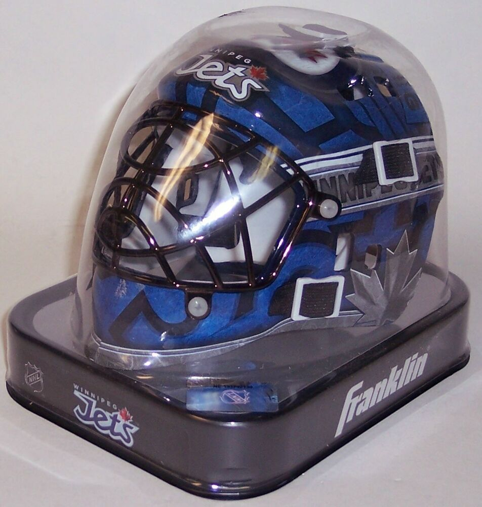 Franklin Sports Winnipeg Jets Nhl Team Logo Mini Hockey Goalie Mask With Case Collectible Goalie Mask