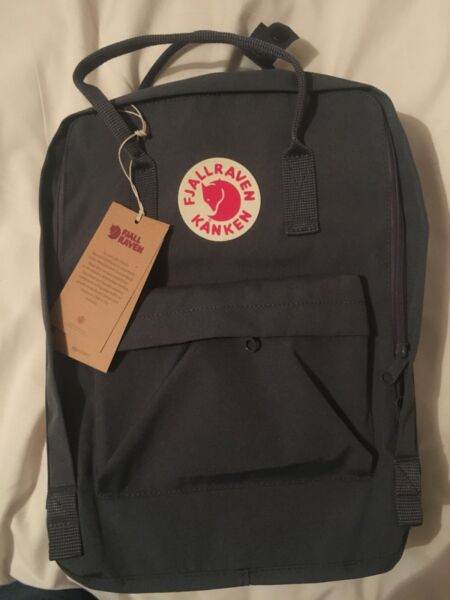 Fjallraven Kanken 16l Backpack Black Used Once Brought From Urban Outfitters Bag