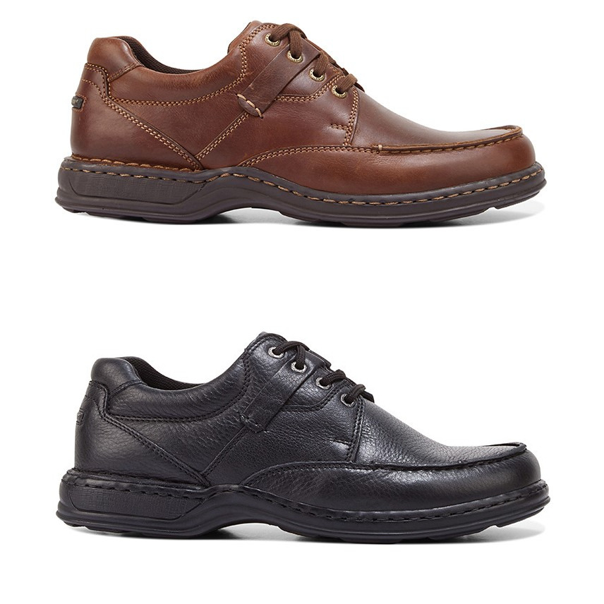 88377b54822c Details about MENS HUSH PUPPIES RANDALL II BROWN BLACK LEATHER LACE UP WORK  FORMAL MEN S SHOES