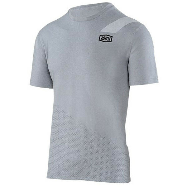 Details about 100% SLANT TECH TEE T-SHIRT MENS HEATHER GREY motocross mtb  bike 100 percent a1a4b475f