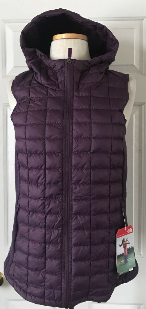 24d529721 $149 NWT Womens The North Face MA Thermoball Hooded Vest Sugilite Purple S  M | eBay