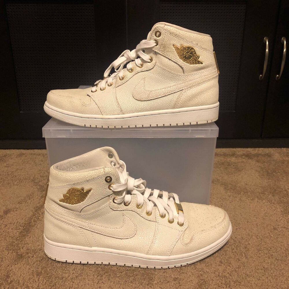 new product 4f183 52b95 Details about Air Jordan 1 Pinnacle White 705075-130 Size 10.5 USED