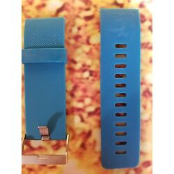 REPLACEMENT DIGITAL WATCH BAND FITBIT BLAZE SMALL SILICONE RUBBER WRIST BLUE NEW