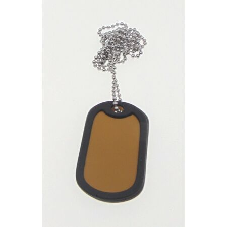 img-1 x Military Dog Tags in GOLD with 1 x Chain, Army ID Tag, Necklace Soldier