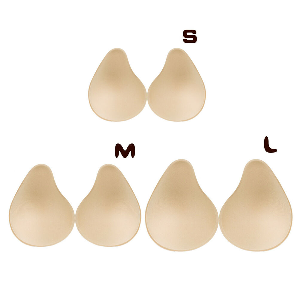 222fc617e5033 Details about 1 Pair Removable Bra Pads Insert Comfortable for Swimsuit  Workout Mastectomy S-L