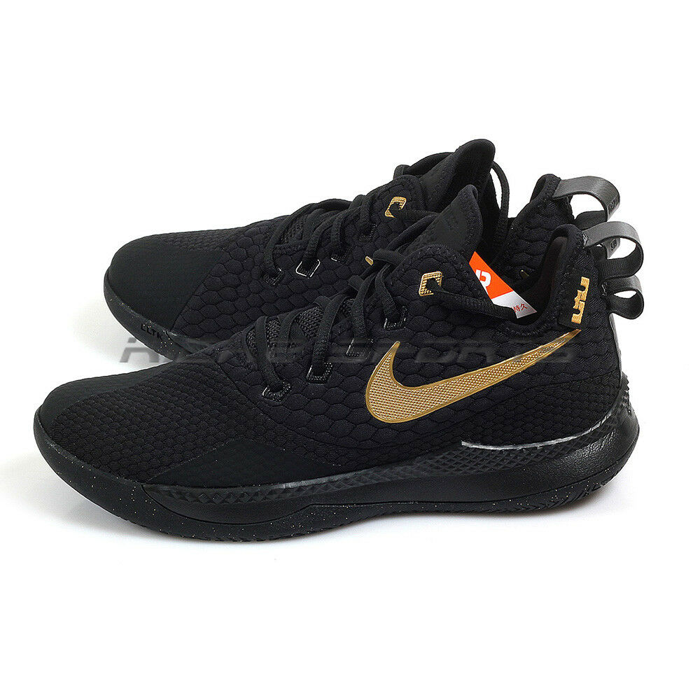 149824e9c9467 Details about Nike LeBron Witness III EP Black Metallic Gold James  Basketball Shoes AO4432-003
