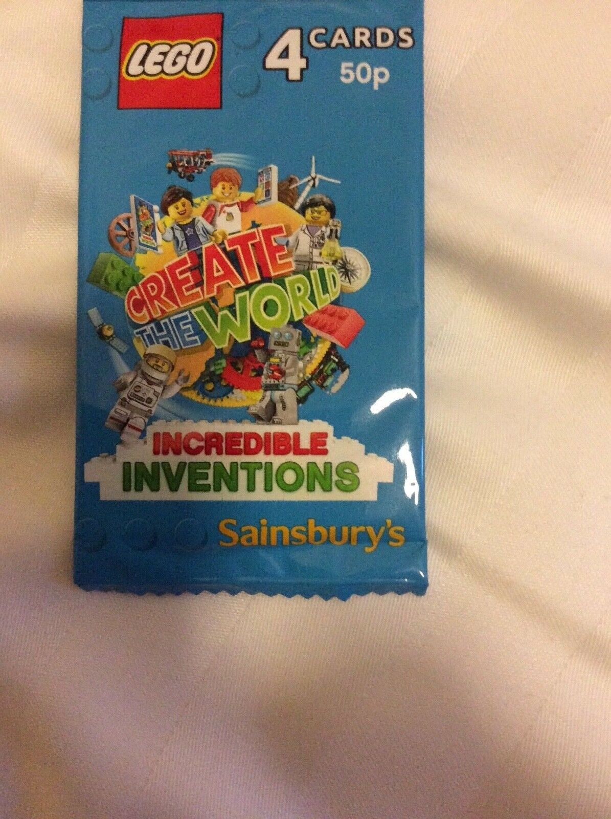 Lego Create The World Trading Cards Unopened Pack sainsburys