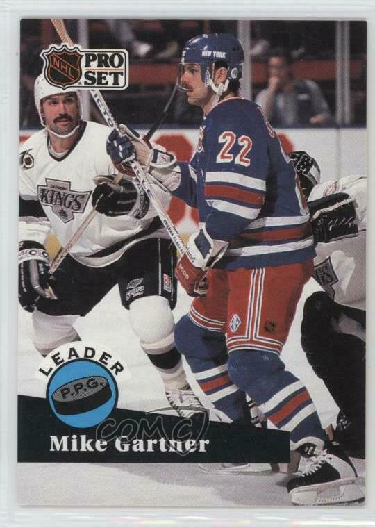 dc6feb9fb Details about 1991-92 Pro Set  604 Mike Gartner New York Rangers Hockey Card