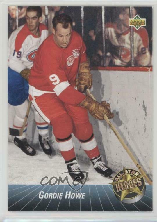 99e138873 Details about 1992-93 Upper Deck All-Stars  42 Gordie Howe Detroit Red  Wings Hockey Card