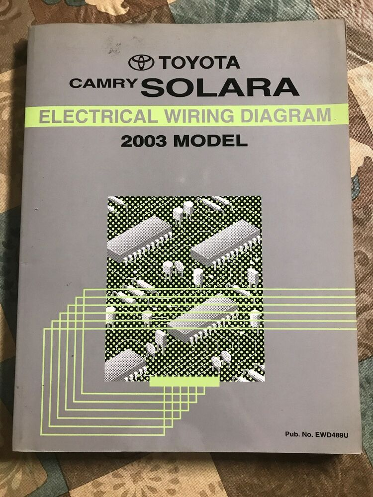 Toyota Camry Solara Electrical Wiring Diagram Manual 2003