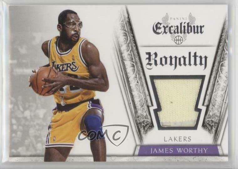 30f58e9cf8f Details about 2014-15 Panini Excalibur Royalty Jerseys 18 James Worthy Los  Angeles Lakers Card