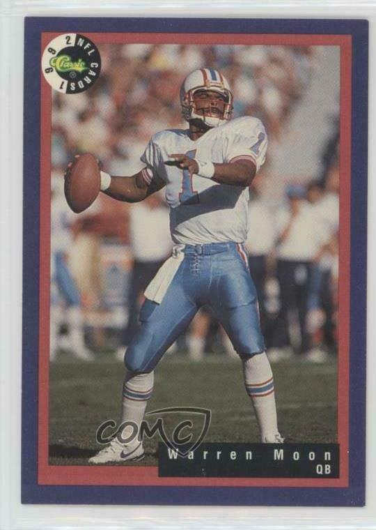 1992 Classic NFL Game  12 Warren Moon Houston Oilers Football Card ... 44c7b12cf