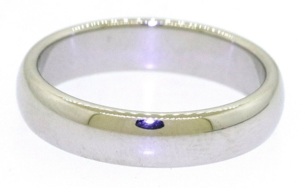 a606af023 Details about Tiffany & Co. PT950 Platinum high fashion 4.5mm wide band ring  size 7.5 w/ pouch