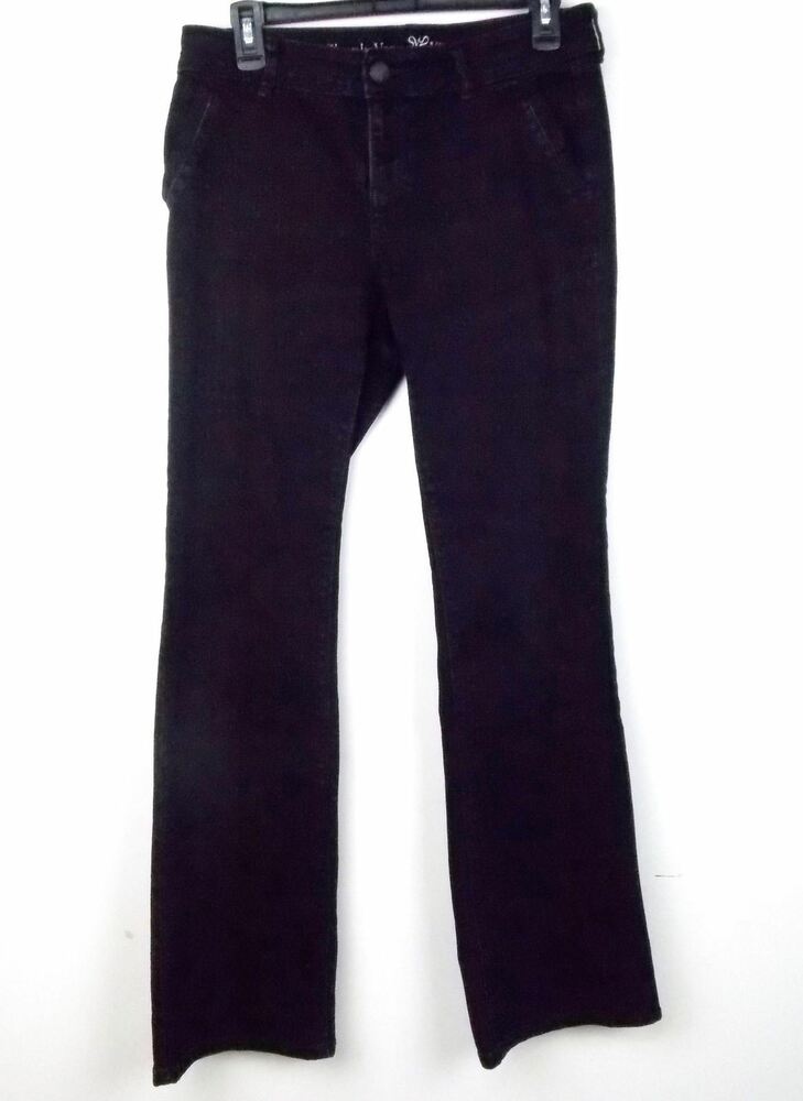 70a1796f405 Details about Simply Vera Wang Womens Jeans Size 6 Bootcut Black Stretch