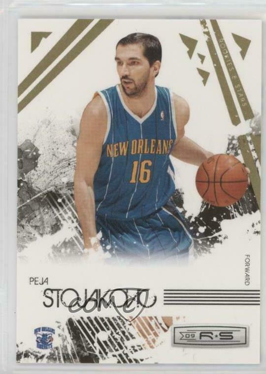 6916a534fbc Details about 2009-10 Panini Rookies & Stars Gold #62 Peja Stojakovic New  Orleans Hornets Card