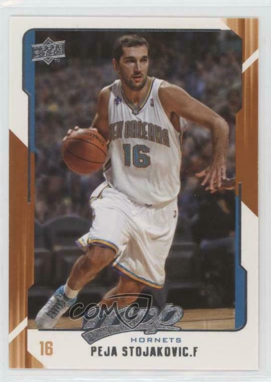 ccee952ec03 Details about 2008-09 Upper Deck MVP #102 Peja Stojakovic New Orleans  Hornets Basketball Card