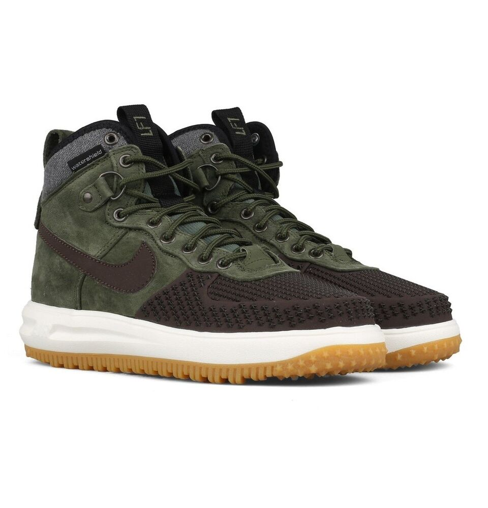 1ea5b4e13a9e Details about Nike Lunar Force 1 Duckboot Baroque Brown Army-Olive-Black  805899 200 Size 8.5